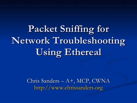 tutorial wireshark ppt ostu chris sanders on wireshark