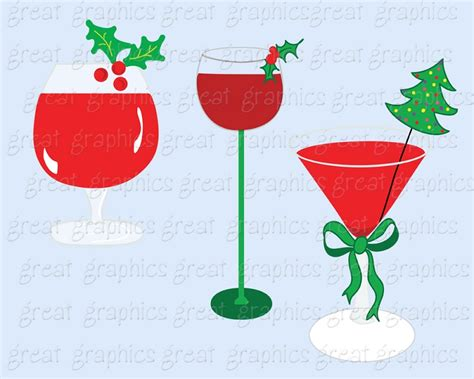 holiday cocktails clipart christmas cocktail party clipart 36