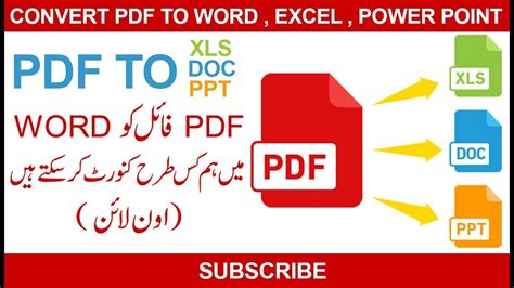 Convert Pdf To Word Hindi | how to convert pdf to word without software in hindi urdu
