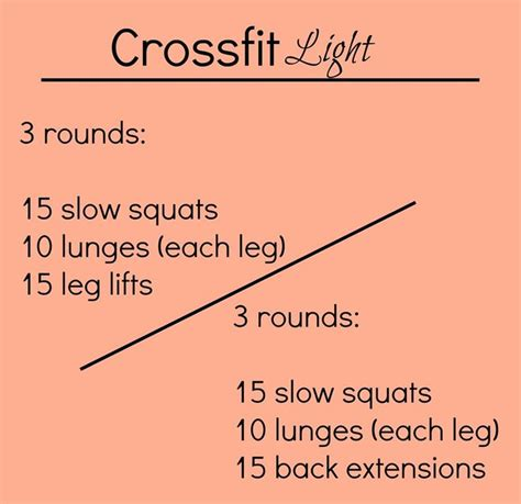 crossfit light at home workout health stuff