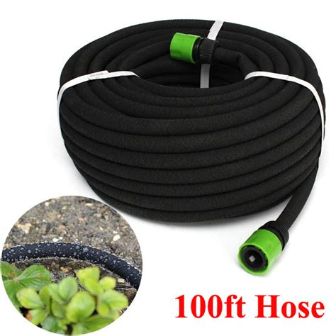 Garden Hose Irrigation 100ft Garden Lawn Porous Soaker Hose Watering Water Pipe