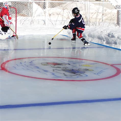 backyard hockey online the personalized backyard ice rink small hammacher