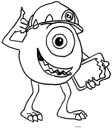 coloring page of monster printable didi coloring monster inc hero didi coloring page