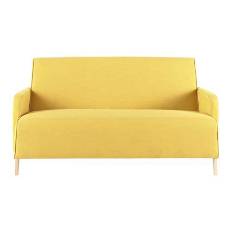 maison du monde sofa 2 seater fabric sofa in yellow adam maisons du monde