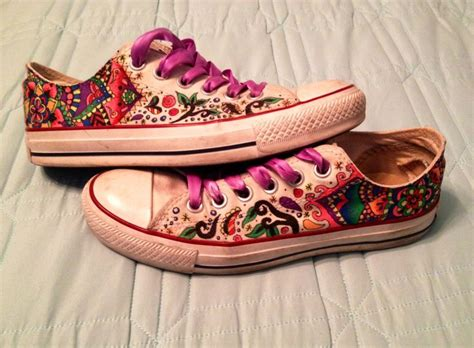 How To Decorate Your Converse by Sharpie Decorated White Converse Painted Shoes
