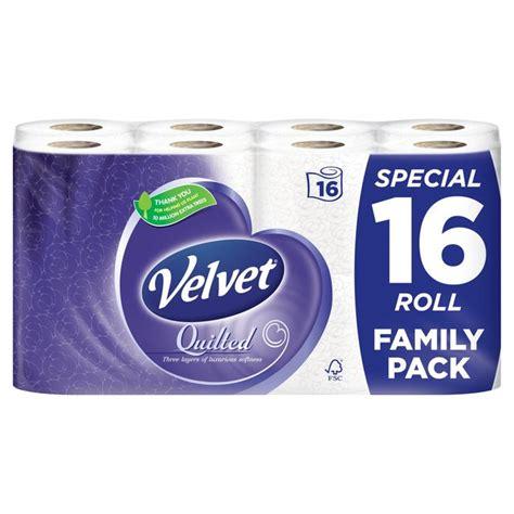 Quilted Velvet Toilet Tissue by Morrisons Quilted Velvet Toilet Tissue White Product