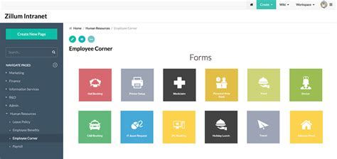 knowledge management software sharing tool zoho wiki