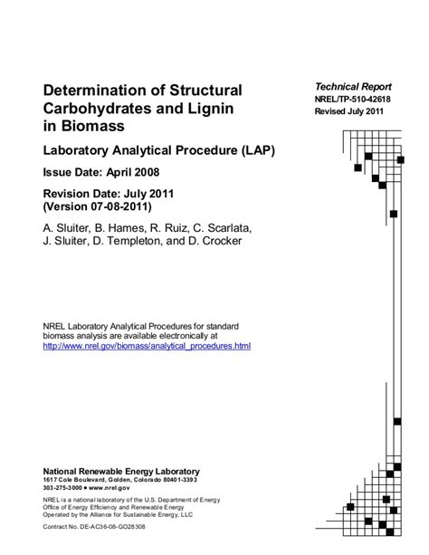 2 structural carbohydrates determination of structural carbohydrates lignin in biomass