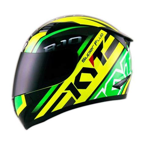 jual helm kyt r10 motif black green yellow fullface r