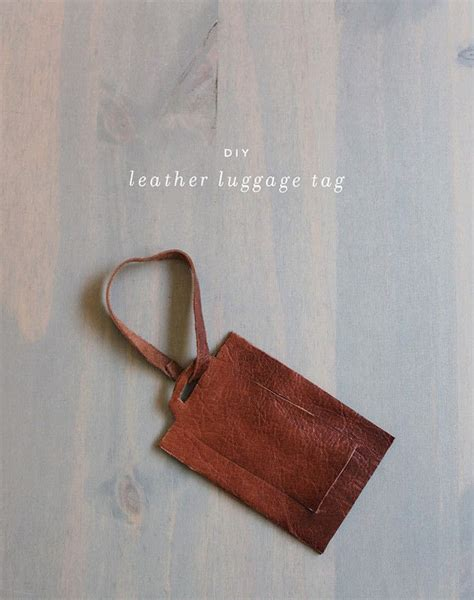 easy leather craft projects diy leather luggage tag 183 how to make a luggage tag 183 home