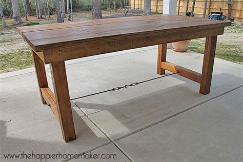 Diy Patio Table Plans Diy Outdoor Dining Table Projects The Garden Glove