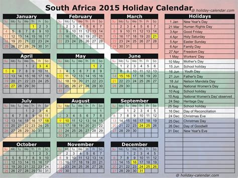south african school terms and public holidays 2016 2016 calendar south africa with public holidays and school