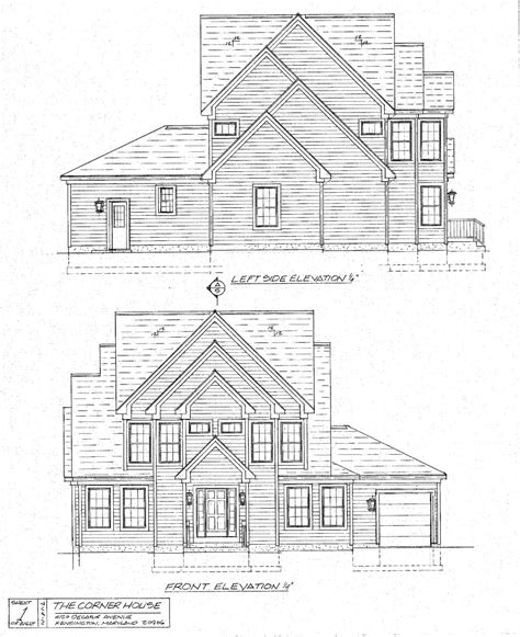 house drawing architecture brucall