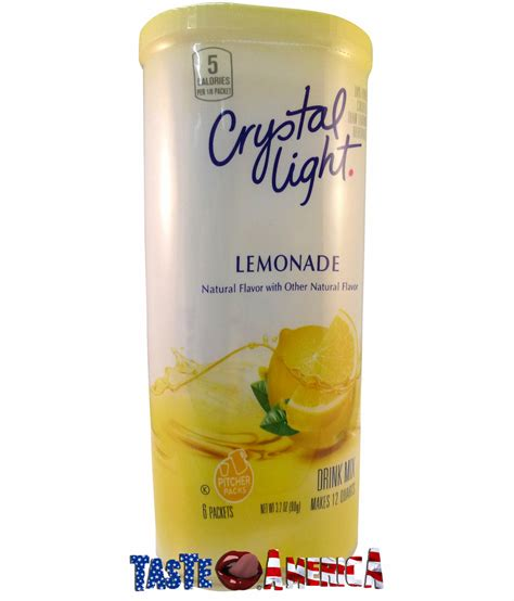 light lemonade drink mix 6 x 2 quart sachets 90g