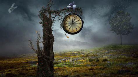 Clocks creative design digital art fantasy wallpaper   (42855)