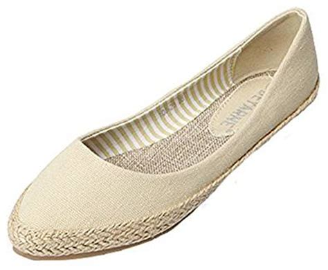 idifu s pointy slip on canvas espadrille flats shoes