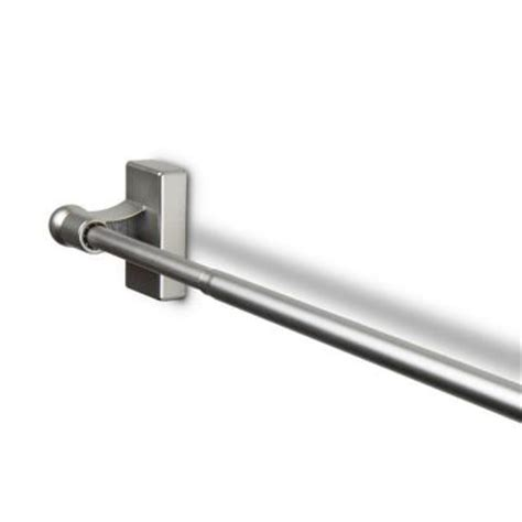 magnetic curtain rod home depot rod desyne 17 in 30 in telescoping magnetic curtain rod in satin nickel mag 15 the home depot