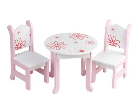 18 doll table and chairs doll furniture american floral table chairs boutique