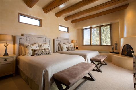 southwest bedroom contemporary rustic home in santa fe american southwest