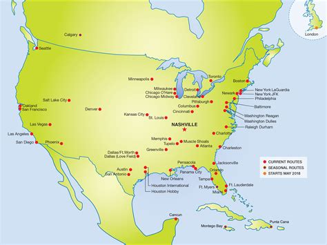 usa map nashville us airways airports map images