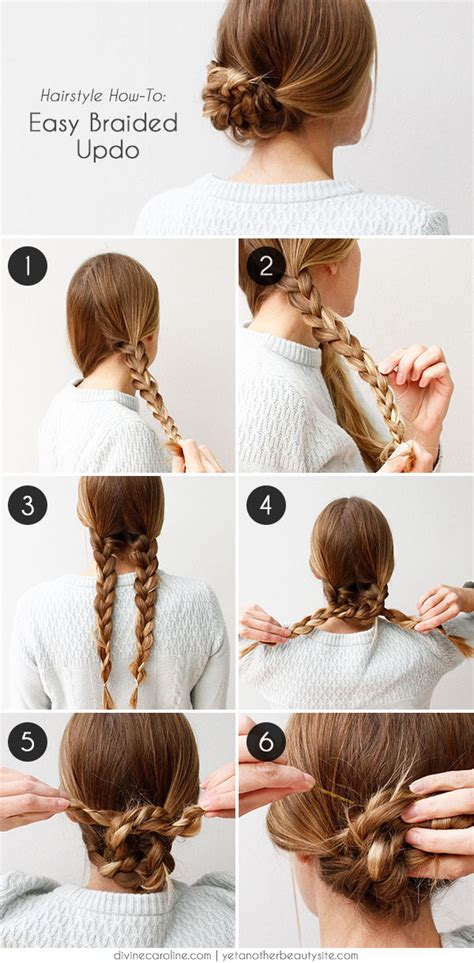 cool and easy to make hairstyles how to easy braided updo pictures photos and images for