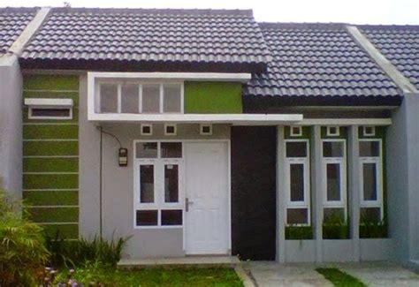 kombinasi warna cat rumah minimalis paduan hijau