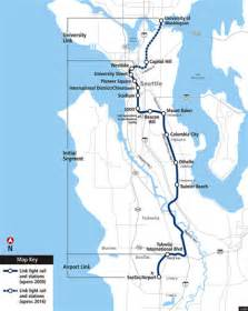 Link Light Rail Seattle Map by Seattle S Light Rail Opens Redefining Life In The City