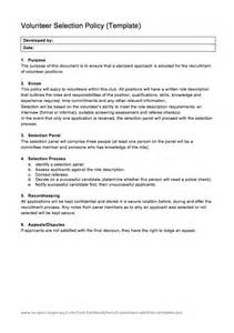 Volunteer Policy And Procedures Template by Welcome To V
