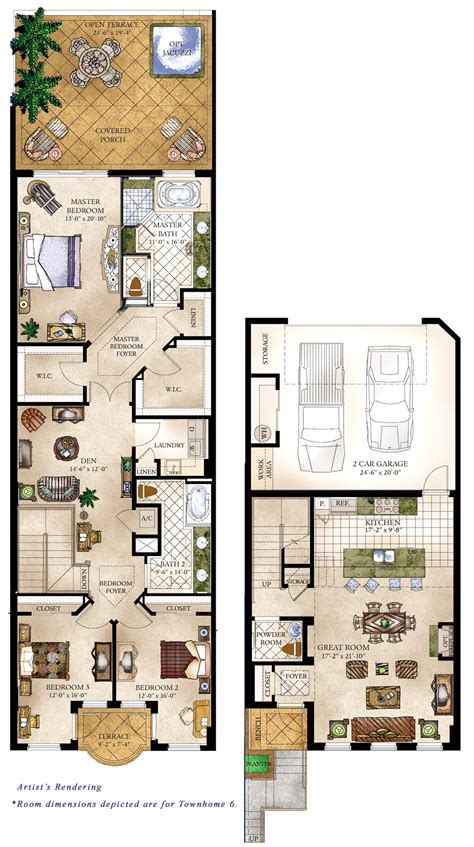 townhouse floor plan townhomes floorplans 171 floor plans