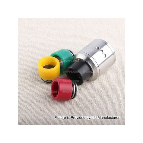 Acrylic 15mm 15mm black ss plastic drip tip for smok tfv12 tfv8 1 2
