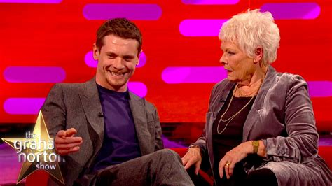 jack o connell s bum tattoo shocks dame judi dench the