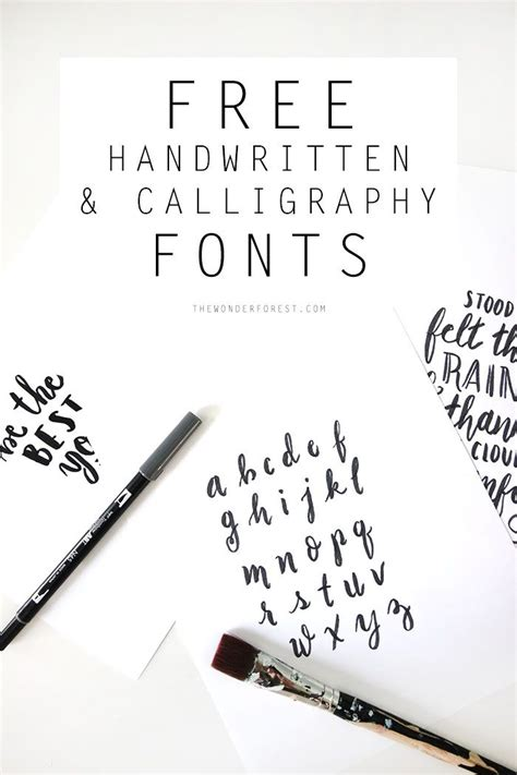 printable calligraphy fonts free handwritten calligraphy fonts wonder forest