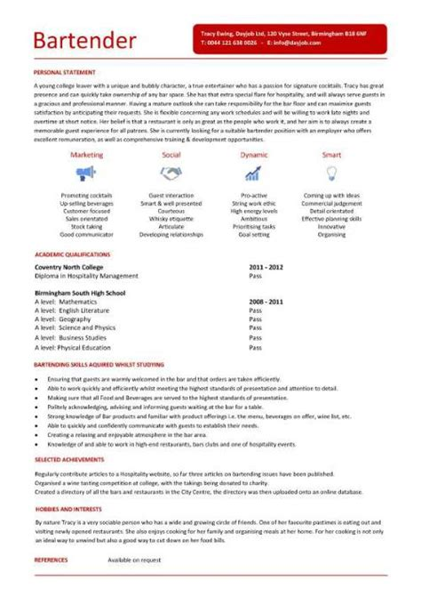 bar resume exles bar manager cv sle description assess pub