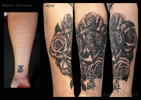 tattoo cover up forearm self harm forearm scars tattoo cover up black and grey