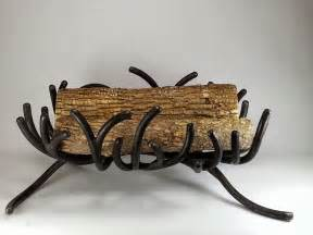 grate branch fireplace log holder by ironvines on etsy