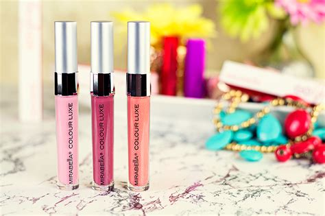 Lipgloss Mirabella mirabella colour luxe lip gloss swatches hairspray and