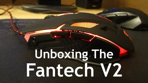 Mouse Fantech V2 Gaming unboxing the fantech v2 gaming mouse