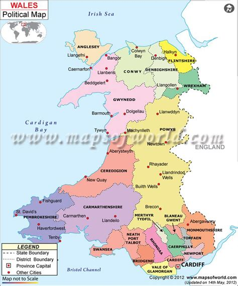 map of wales political map of wales wales wales map of wales and maps