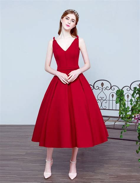 wedding swing dress 1950s vintage inspired v neck swing prom wedding dress