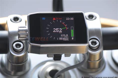 Motorrad Tacho Umbau Auf Digital by Acewell Ace One Can