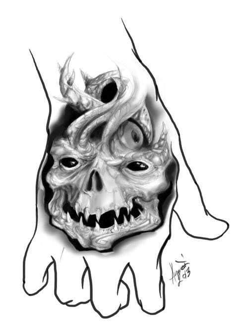 tattoo flash art skulls skull for hand tattoo flash by bitterius on deviantart