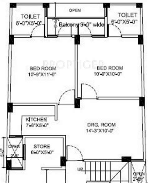 650 square feet floor plan 650 sq ft 2 bhk floor plan image jm constructions