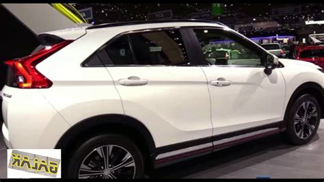 mitsubishi crossover white 2017 mitsubishi eclipse cross exterior white motion youtube