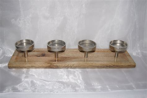 kerzenhalter 4 kerzen metall kerzenst 228 nder holz 4 kerzen tischdeko mit kerzen