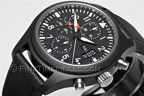 Iwc Top Gun Chrono On Semua Black List iwc fliegeruhr ceramic chronograph top gun ref 3789