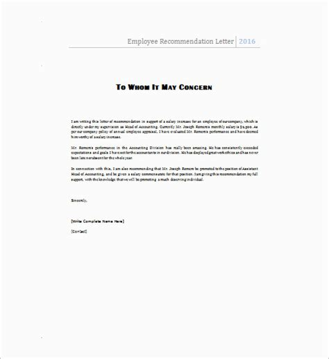 Recommendation Letter From Employer For Ms In Cs 55 free recommendation letter template word sle