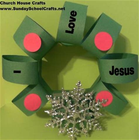 i love jesus christmas wreath craft
