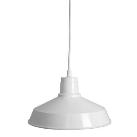 Home Depot Pendant Lights by Home Decorators Collection 1 Light Industrial Gloss White