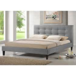 Baxton Studio Platform Bed The 68 Inch Wide Baxton Studio Quincy Linen Platform Bed Reviews Home Best Furniture