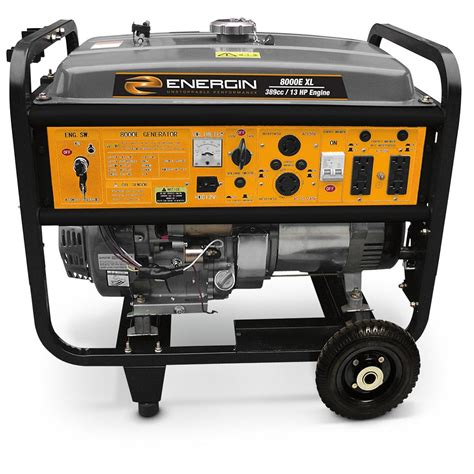 energin 174 8 000xl generator with electric start 220435